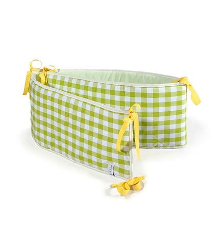 Ochraniacz na łóżeczko zielona kratka