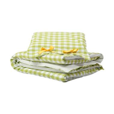 Pościel do łóżeczka zielona kratka