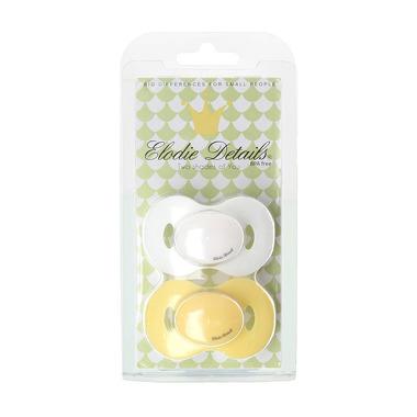 Elodie Details, zestaw smoczków biały / żółty