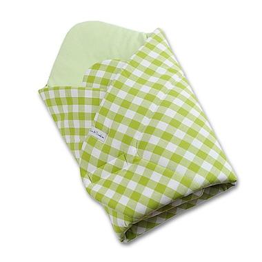 Rożek niemowlęcy zielona kratka
