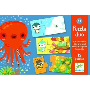 Djeco, puzzle duo Gdzie śpią zwierzątka