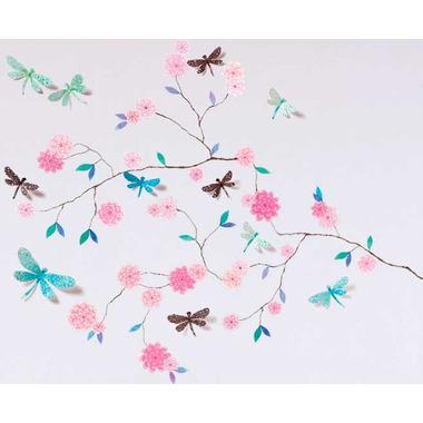 Djeco, naklejki 3D  Drzewo z motylami