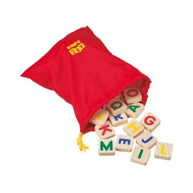 Djeco, drewniane klocki magnetyczne z alfabetem