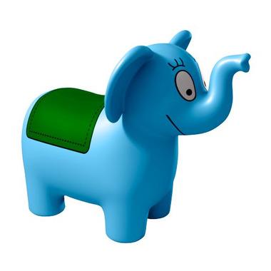 Barbapapa - gumowy słonik do skakania - kolor niebieski