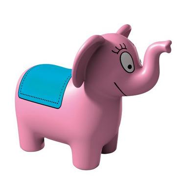 Barbapapa - gumowy słonik do skakania - kolor różowy