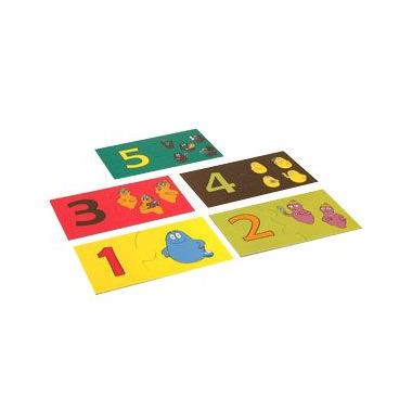 Wesołe puzzle do nauki liczenia Barbapapa