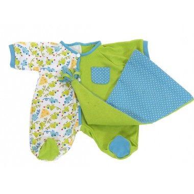 Piżamka zielona dla lalki