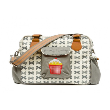 Torba do wózka Pink Lining - Yummy Mummy Grey Bows