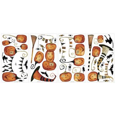 RoomMates, naklejki wielokrotnego użytku - Halloween Dynie