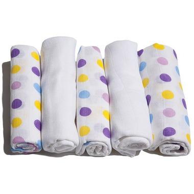 Motherhood, pieluszki bawełniane różowo-niebieskie kropeczki