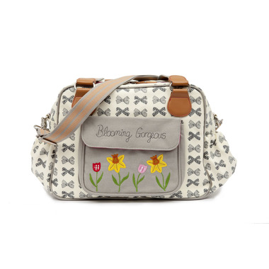 Torba do wózka Pink Lining - Blooming Gorgeous Grey Bows