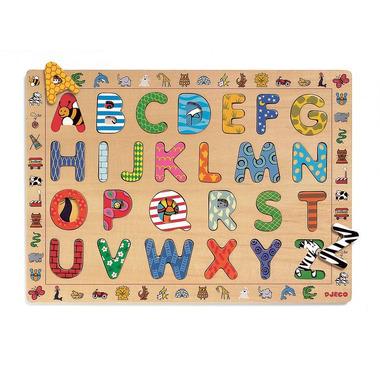 Djeco, drewniany alfabet