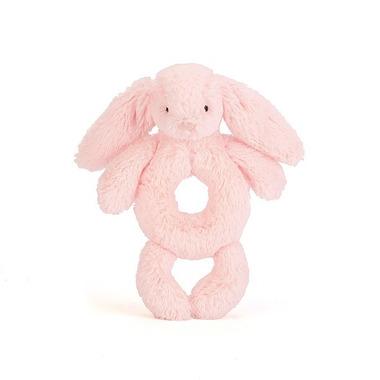 Jellycat, Królik grzechotka różowa 18cm