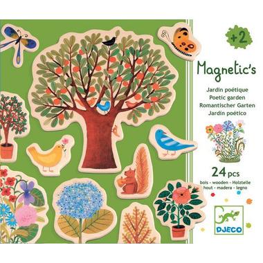Djeco, drewniana układanka motywy z lasu z magnesami