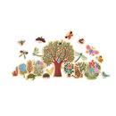 Drewniana układanka motywy z lasu z magnesami Djeco