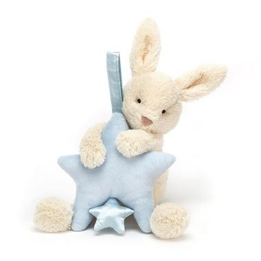 Jellycat, Królik z pozytywką niebieską 28cm
