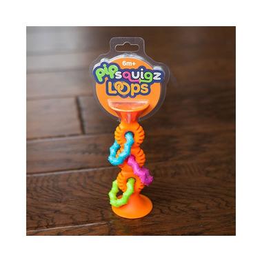Fat Brain Toy, Bobo Przyssawka Grzechotka Pomarańczowa