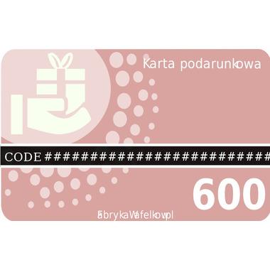 Karta podarunkowa 600