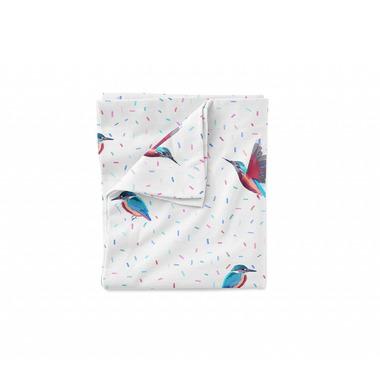 Lullalove, Bawełniana pościel 135x100 cm - ptaki Zimorodki