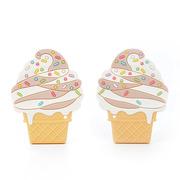 LouLou Lollipop, gryzak silikonowy Ice Cream czekolada