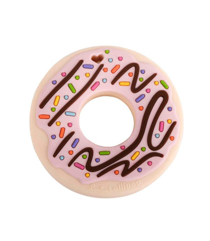 LouLou Lollipop, gryzak silikonowy Donut różowy