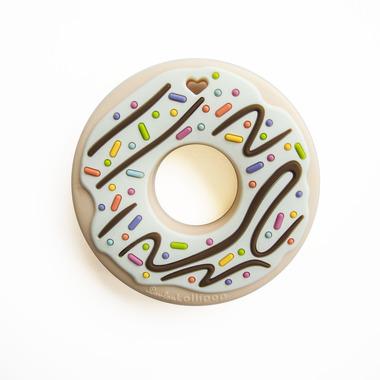 LouLou Lollipop, gryzak silikonowy Donut kremowy