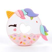 LouLou Lollipop, gryzak silikonowy Unicorn Donut różowy
