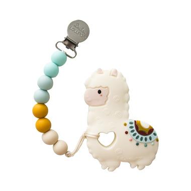 LouLou Lollipop, gryzak silikonowy z zawieszką Lama