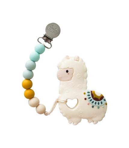 LouLou Lollipop, gryzak silikonowy z zawieszką Llama
