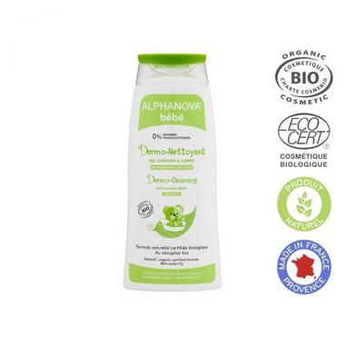 Alphanova Bebe Dermo - Żel do mycia ciała i włosów, 200ml