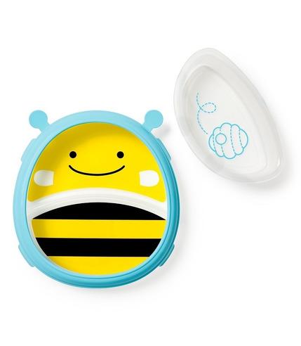 Skip Hop, Miska i talerzyk 2w1 Zoo Pszczoła