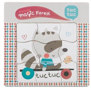 Tuc Tuc, puzzle drewniane Magic Forest TucTuc