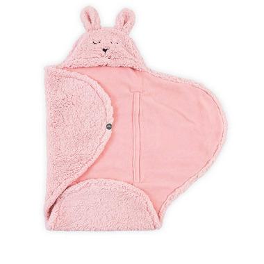 Jollein, Rożek-otulacz-śpiworek Bunny Pink 105x100cm