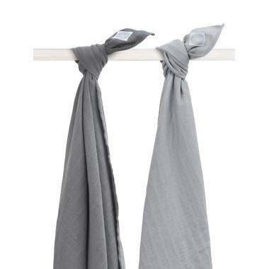 Jollein, Otulacze 115x115 cm Duo grey (2 sztuki)