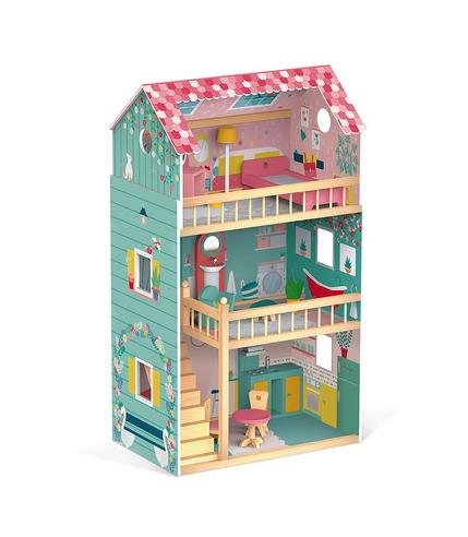 Janod, Domek dla lalek XL z 12 akcesoriami Happy Day