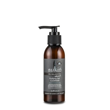 Sukin, OIL BALANCING Oczyszczający żel do mycia twarzy z aktywnym węglem, 125ml