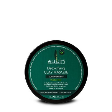 Sukin, SUPER GREENS Detoksykująca maska z glinki, 100ml