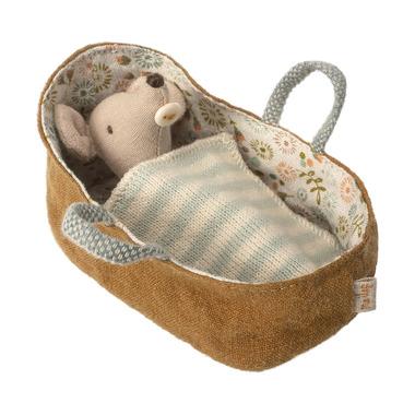 Maileg Myszka Baby w nosidełku
