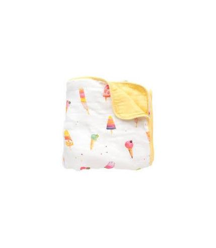 LouLou Lollipop, Bambusowy koc kołderka 120x120 Ice Cream