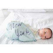 LouLou Lollipop, Bambusowy koc kołderka 120x120 miasto New York