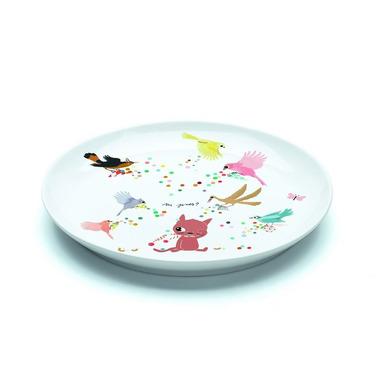 Djeco, talerz porcelanowy słodki kotek