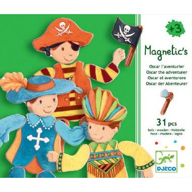 Djeco, drewniane puzzle magnetyczne