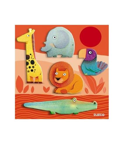 Drewniane puzzle Zwierzęta   Djeco
