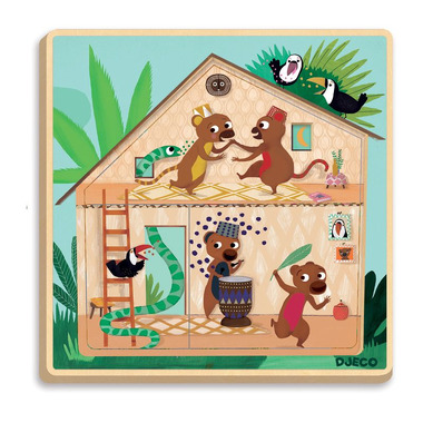Djeco, puzzle 3 warstwowe CABANA