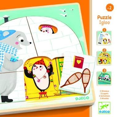 Djeco, puzzle 3 warstwowe IGLO