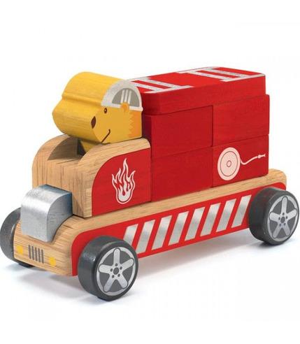Drewniany składany samochód BOMBERO