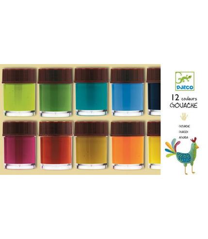 Zest farb 12 kolor plakatowych Djeco