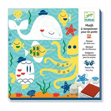 Djeco, zestaw artystyczny ze stempli w morzu
