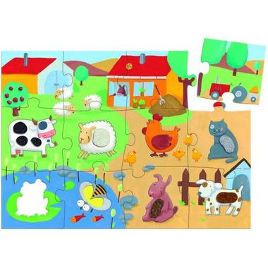Djeco, puzzle duże farma