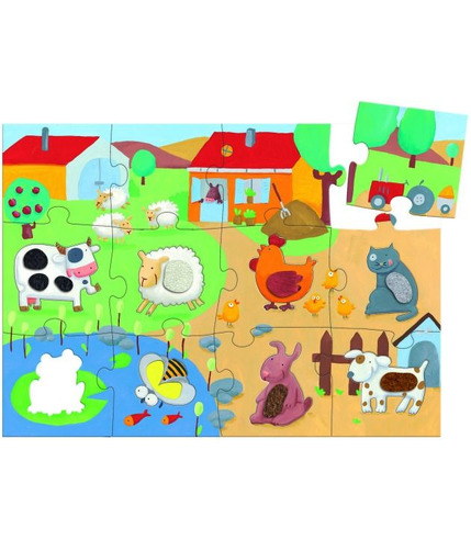 Puzzle duże farma Djeco